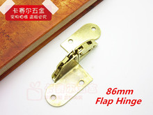 Golden Flap Hinge For Furniture Table Flap Hinge Iron Folding Hinges 2pcs