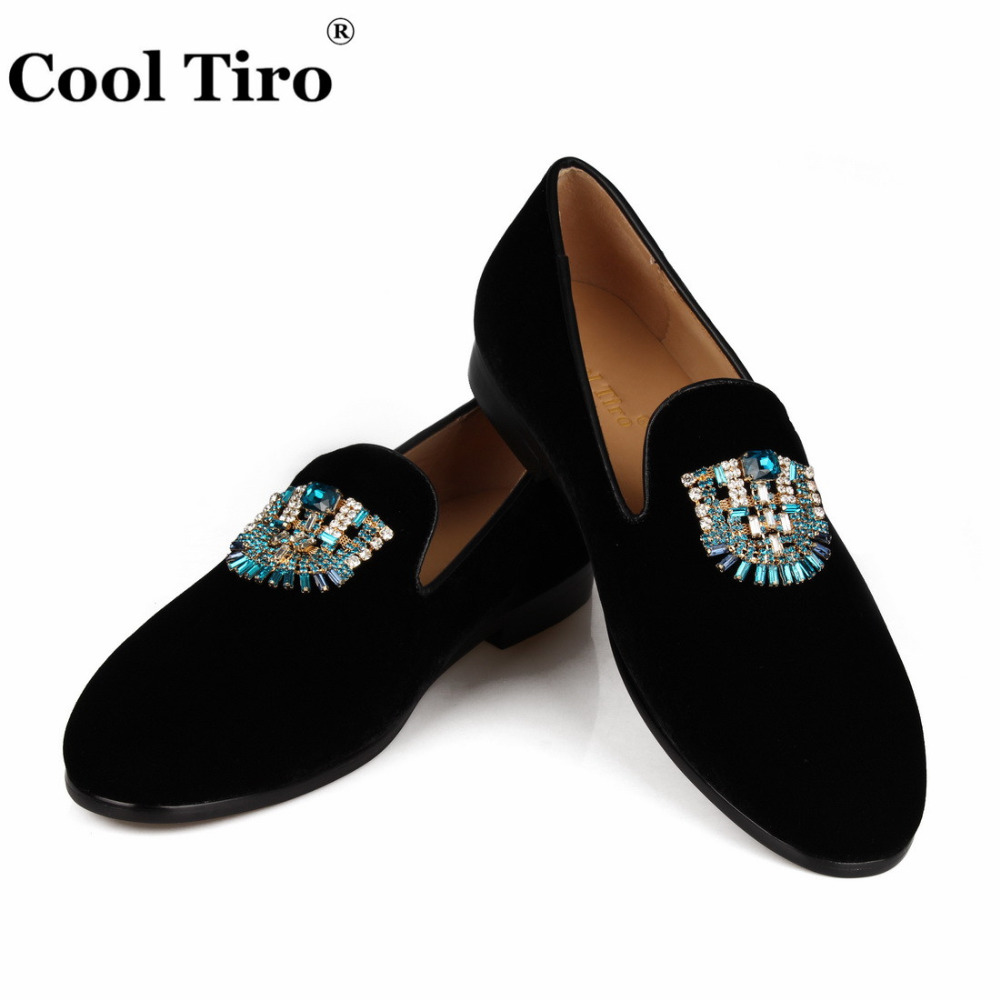 VELVET Loafers SLIPPERS with Crystal brooch (7)