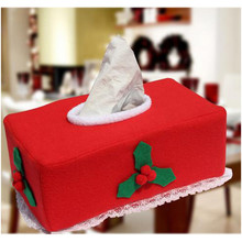 NEW Christmas Santa Claus Belt Tissue Box Cover Home Decoration Creative Napkin Holder High Quality Tissue Case 2PCS/LOT