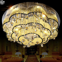 High-grade crystal lamp living room creative round LED crystal lamp modern minimalist Ceiling Lights Rmy-0144(China)