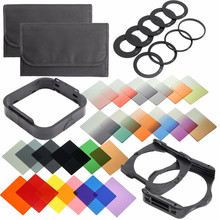 38 in1 All In One Graduated Neutral Density ND Color filter set Holder for Cokin P Series Digital Camera Filters Kit Set(China)