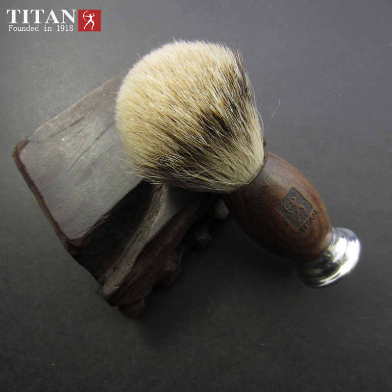 Men Shaving Brush Red Ebony Wood Badger Silvertip Brushes Aluminum Handle Tip Badger Hair Knot Mustache Brush<br>