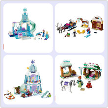 City Friend Princess Froze Elsa's Sparkling Ice Palace Anna & Elsa's Froze Playground Snow Adventure compatible with legoeds(China)