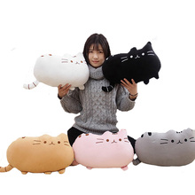 Plush Lumbar Decorative Throw Pillow Cat Back Cushion Christmas Gift Stuffed Doll Kids Room Decoration 25cm,40cm,50cm