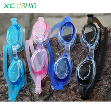 High quality Children swimming diving goggles swim eye wear glassess one-piece type with two ear plugs Brazil free shipping(China)