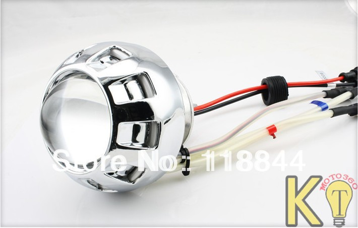 New 2.5 CCFL Angel eyes Devil eyes dual universal headlight motorcycle aluminium  HID bi xenon Fish eye light<br>