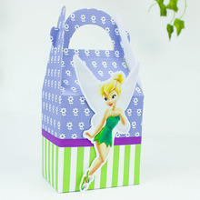 Tinkerbell Fairies Favor Box Candy Box Gift Box Cupcake Box Boy Kids Birthday Party Supplies Decoration Event Party Supplies