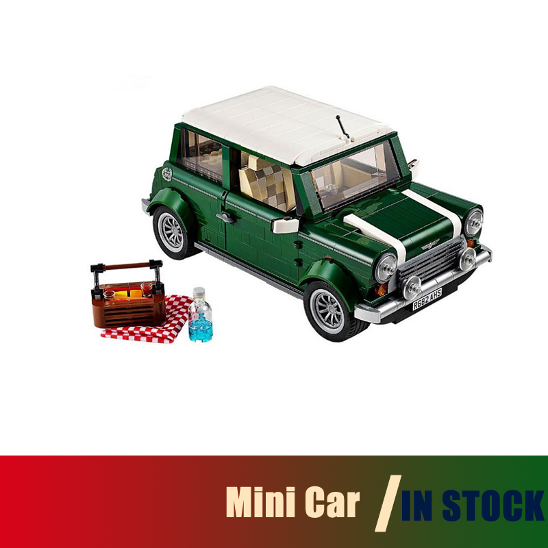Compatible With lego 10242 21002 Building Blocks Yile 002 1077PCS Mini Cooper Model Buliding Car For Kids Bricks For Gift<br>