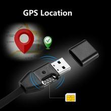 New Remote Tracking USB Cable GIM Tracker HS8 Miniature Anti-lost Tracker Vehicle Car GPS Locator USB Data
