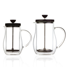 BODUM Double Walled Coffee Pot French Presses Heat-resisting Anti Scald Glass Tea Organ Follicular Filter Press Household Teapot(China)