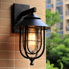 Indoor Outdoor rainproof wall lamps,garden porch building aisle front door stair cafe warehuse living room restaurant lights bra
