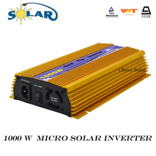 1000W Micro Power Grid Tie Inverter DC 24-45V Input AC 120/230V Output Solar panel and Wind Power Inverter(China)