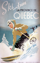 Ski in Quebec Pop Map Classic Vintage Retro Kraft Decorative Paintings Travel Poster Maps Home Bar Posters Wall Decor Gift(China)