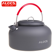 Alocs CW-K03 Outdoor Kettle Camping Picnic Water Teapot Coffee Pot 1.4L Aluminum(China)
