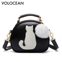 Cute Fox Rabbit Cat Bear Face Women Bag Baby Girl Mini Shoulder Bag For Women Cross Body Bags Lady PU Leather Handbags Animal(China)