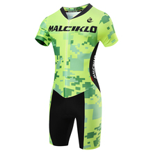 MALCIKLO New Men Triathlon Cycling Skinsuit Jersey Short Sleeve Set Bicycle Coverall For Swimming Running Breathable Ciclismo
