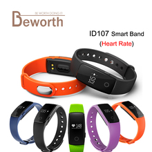 ID107 Smart Band Bracelet Bluetooth 4.0 Heart Rate Monitor Bangle Watch Smartband Fitness Sports Wristband PK Fitbits Mi Band 2