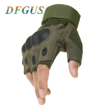 Brand Army Bicycle Outdoor Tactical Gloves Sprots Gym Paintball Airsoft Fingerless Hard Carbon Knuckle Half Finger Gloves