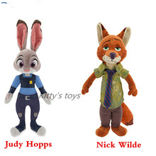 Free shipping  1PCS 22CM PLUSH Zootopia Rabbit JUDY Hopps FOX NICK WILDE TOYS FOR BABY KIDS DOLLS