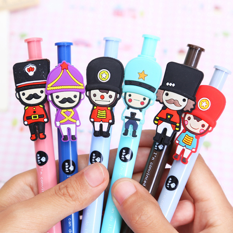 50pcs/set Wholesale Creative Students Lovely Press Ballpoint Pen Wholesale Cartoon British Soldiers Ball-point Pen<br>
