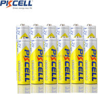 12PCS PKCELL 1.2v AA 2A NIMH 1300mah AA Rechargeable Battery 3A Batteries(China)