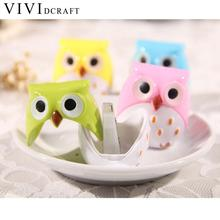 Vividcraft School Stationary Cartoon Mechanical Pencil Sharpener Mini Funny Cute Lovely Owl Pattern for Kids Knife Sharpenner