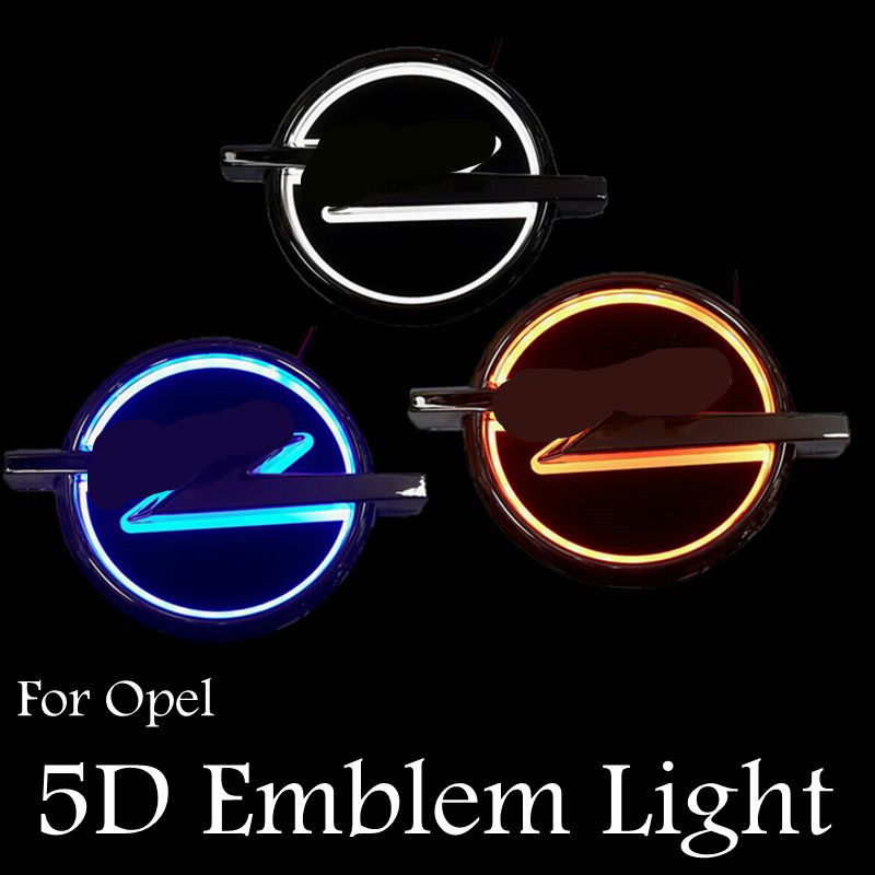 Ossen 5D Car Badge Emblem Lights Rear Light For Opel Plug and Play White Red Bllue<br><br>Aliexpress