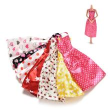 One Set=7 Pcs Mix Sorts Newest Beautiful Handmade Party Clothes Fashion Dress For Barbie Doll Best Gift Toys