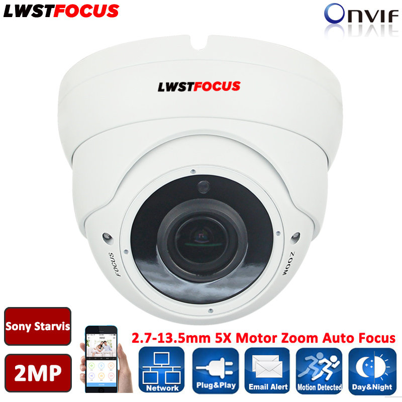 Sony Starvis IMX290+Hi3516C 1080P IP Camera 5X Motorized Zoom Auto Focus 2.8-12mm Outdoor IP Dome Camera IR cut Onvif 2.4 RTSP(China)