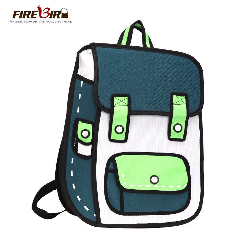 mochila 2015 New Oxford cloth printing backpack 3D cartoon cartoon backpack backpacks for teenage girls Sac a dos H314<br><br>Aliexpress