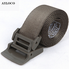 Buy New Automatic Buckle Nylon Belt Male Army Tactical Belt Mens Military Waist Canvas Belts High Strap for $7.25 in AliExpress store