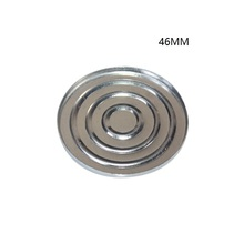 46mm round aluminum  pressed pan for compact  powder case 100pcs/lot
