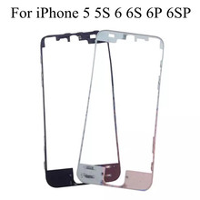10pcs/lot Hot Glue Middle Frame Lcd Touch Screen Frame Housing Parts for iPhone 6 6s plus 5 5S 5C Black White Front Bezel Frame