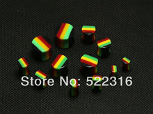 JEWEL 2015 rasta design ear plug acrylic saddle ear gauges mix size 4mm-12mm lots wholesale body piercing jewelry free shipping
