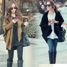 Hot-selling Fashion Women's Knitting Sweaters Knitted cape outerwear sweater batwing sleeve Cardigans women's sweater Tops
