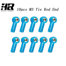 10PCS RC car 1/10 Metal M3 Tie Rod End Steering Link Ball Joint for HSP RC Car Crawler Axial SCX10 RC4WD D90 TAMIYA CC01(China)