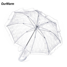 OurWarm White Lace Umbrella Wedding Parasol Umbrellas Sun Umbrella Wedding Decoration Event Party Supplies Hot Sale Cheap Price(China)