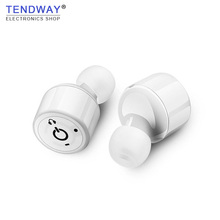 Tendway TWS Business Bluetooth Wireless Earphones Two-channel Stereo Smallest Earbuds for Vehicle Iphone Samsung Smallest Phone(China)