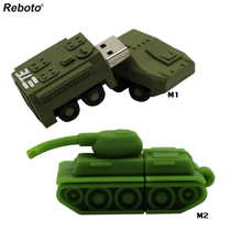 Tank Model USB Flash Drive Memory Stick Funny MIni Gifts Pen Drive 4GB 8GB 16GB 32GB 64GB Pendrive Thumb Drive Hot Salling(China)