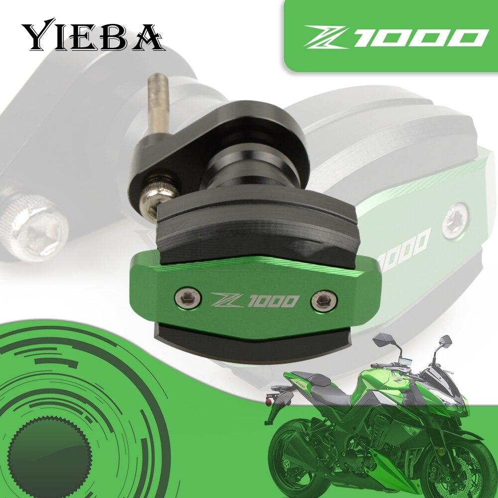 Green For Kawasaki Z1000 z1000 Z 1000 Falling Protection Motor Frame Crash Pads Engine Case Sliders Protector CNC logo Z1000