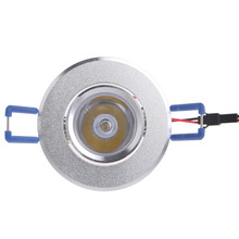 1W LED Lights 85-265V Cabinet Mini Downlight Spot Ceiling Lamp  6.8x6.8x2cm