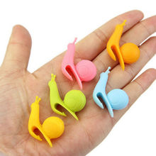 5pc Cute Snail Wineglass Label For Tea Bag Hanging Mug Cup Clip Tea Infuser Party Supplies Novelty Product Color Random(China)