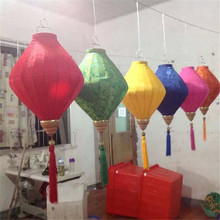 "25pcs/lot 18""/45cm Outdoor/indoor Diamond Jacquard Satin Lanterns Chinese New Year Holiday Mall Decorations Party Decor(China)"