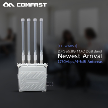 Comfast Wireless AP base station hotsport Large wifi coverage outdoor CPE 1750Mbps wi fi router 802.11AC 4* 8dBi wifi antenna(China)