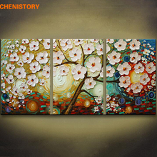 Unframed 3 Pieces Palette Knife Painting Modern Picture Wall Art Canvas Large Oil Paintings Home Decoration For Living Room
