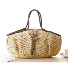 Pillow Straw Bag Summer Beach Handbag Women Causal Shopping Travel Bag Large capacity Woven Shoulder Bags Pouches Bolsa Li423