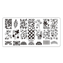 1PC Hot New Nail Art  Stamping Plates Manicure Stamp Template DIY Template Tooll Jul4 DRop Shipping MG