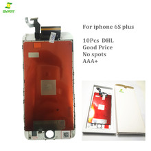 Competitive price 100% New Black or White For iPhone 6S Plus LCD Touch Screen Digitizer Assembly Phone Replacement 10Pcs DHL(China)