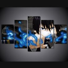 5 Panel Blue Exorcist Boy Picture for Room Decor Wall Art for living room no framed
