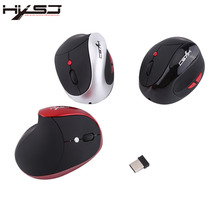 HXSJ X10 2400DPI 2.4G Wireless Gaming Mice Ergonomic Design Optical Vertical Mouse Built-in Rechargeable Battery Free Shipping